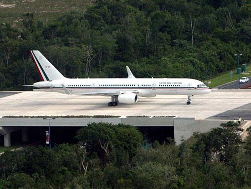 Avion Presidencial en Quintana Roo